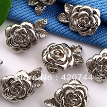 50pcs/Lot Bracelet Necklace Clasp Magnetic Buckle Hook Rose CHIC(China)