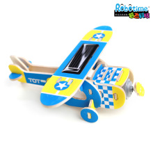 Robotime Wood solar aircraft air plane model P210 splicing puzzle toy child gift Nestlings Monoplane Multi purpose civil machine