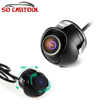 Mini Waterproof Auto Rearview CCD Camera Car Rear View Camera For Car DVD Monitor Parking System Free Shipping