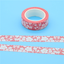 1 Pc 1.5cm*10m Cherry Blossoms Japanese Paper Washi Tape Office Adhesive Tape Kawaii Decorative Stationery Stickers