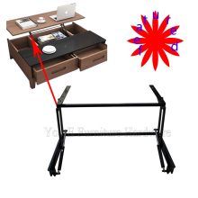 featured black Furniture Mechanism with pneumatic rod for Lift Up Coffee Table or Table D07-1