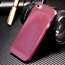 Luxury Aluminum Case For iPhone 5 5S SE Capinhas Mesh Metal Hard Back Cover For iPhone5 5 S 5SE Phone Coque Pink