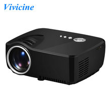 Vivicine Newest 1200 Lumens 800x480pixels Mini LED HDMI USB Home Theater Game Digital TV DVBT Projector Beamer,Gift HDMI cable