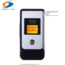 Promotion Dual LCD Digital Breath Alcohol Tester Breathalyzer Driving Essentials Police Alcotester Freeshipping+3pcs mouthpiece(China)
