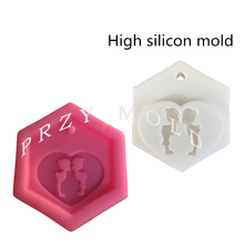 silicone mold Hearts Aroma Silicone Molds Gypsum Solid Aroma Molds Waxes Dried Flowers mould(China)