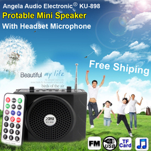 Free Shipping Loudspeaker With Microphone Voice Amplifier Booster Megaphone Speaker For MP3 Teaching Tour Guide Sales Promotion