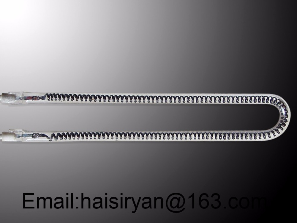 Heraeus IR emitter quartz tube heater medium wave halogen near infrared lamp for hair<br>