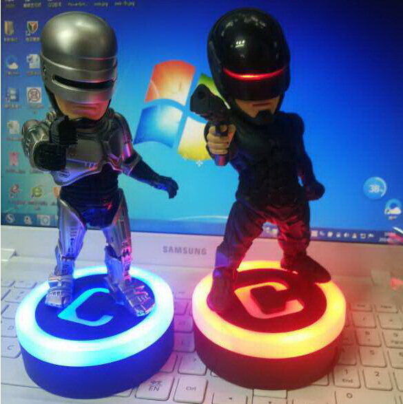 20cm RoboCop Murphy with LED Light Action Figures PVC brinquedos Collection Figures toys with Retail box<br><br>Aliexpress