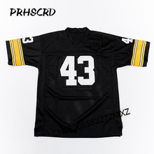 Retro star #43 Troy Polamalu Embroidered Throwback Football Jersey(China)
