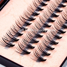 New Natural Long Black Individual False Eyelashes Eye Lash Extension Makeup Tool 57 Knots 8 10 12 14MM Available(China)