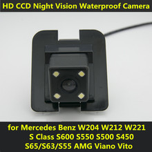 For Mercedes Benz W204 W212 W221 S Class Viano Vito 2010 2011 2012 S600 S550 S500 Car CCD Night Vision Backup Rear View Camera(China)