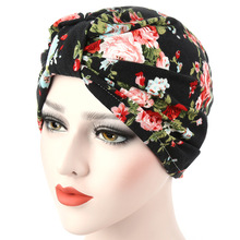 Women Muslim headwear Hats For Ladies Hair Wrap Beanie Hat Turban Head Wrap Cap Chemo Scarves(China)
