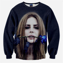 New Fashion 3D Pullover Clothes Women/Men Casual Sweatshirt Blue Rose Sexy Girl Printed Crewneck Hoodies Brand Design Funny Tops