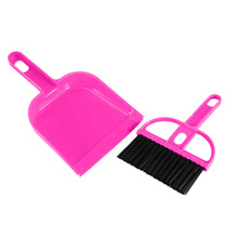 W Colorful Mini Plastic Hand Kitchen Dustpan And Brush Set Soft Cleaning Sweeper Dust Pan(China)