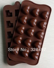 Free shipping silicone cake Chocolate Mold Jelly Mold Cake Moulds Bake ware heart love L077(China)