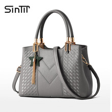 SINTIR 5 Colors Fashion Tassel Black Tote Women Handbag Vintage High Quality Leather Ladies Gray Shoulder Bag Messenger Bags(China)