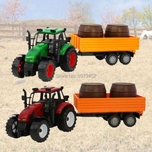 Big size friction power Farmer truck toy farm tractor play set non-toxic ABS plactic car model vehicle toy gift for boy(China)