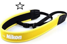 Camera strap Full Yellow Neoprene Neck Strap for Nikon F60D F70D F80D F90X D100 D300 D1 D7000 D5100 D3100 D5000 d3300 d90 d5300