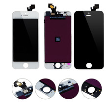 For iPhone 5S 5G 5C 4G LCD Screen Display + Touch Screen Digitizer + Frame Assembly Replacement No Dead Pixel LCD Free Shipping(China)