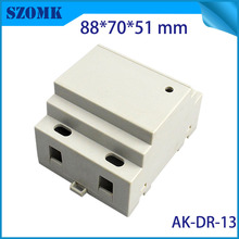 plastic housing project enclosure din rail distribution box (1 pc) 88*70*51mm diy electronic shell case abs control enclosure(China)