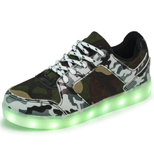 Boys girls led luminous shoes Colorful glowing children light up shoes with new simulation sole sneaker for kdis neon basket