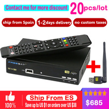 20pcs/lot freesat V8 Super BOX HD Satellite Receiver WIFI DVB-S2 Tuner freesat v8 Super Combo Support USB wifi set top box(China)