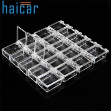 Haicar organizer 20 Grids Clear Acrylic Storage Box Rhinestone Beads Jewelry Decoration Nail Art u70217 DROP SHIP