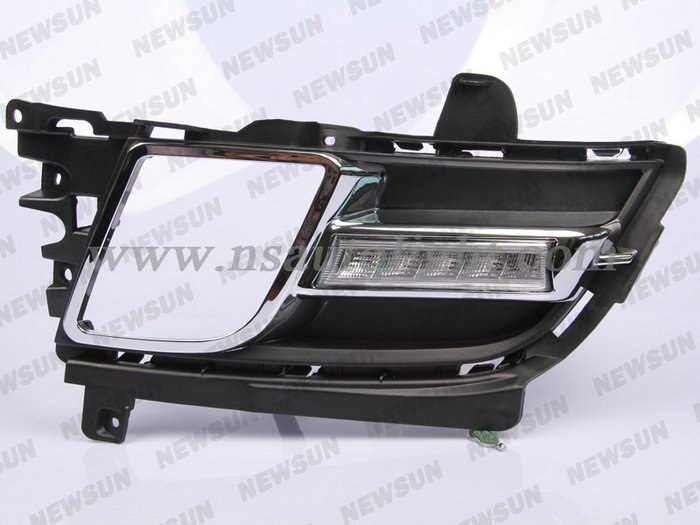 5- led DRL Car LED Daytime Running Lights Exact-Fit for Mazda 6, Day Driving Fog Lamp with Turn Signal light  For mazda 6 2012<br><br>Aliexpress