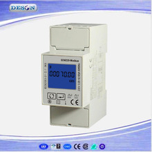 Free Shipping SDM220 Modbus RS485 Single Phase KWH Energy Meter, DIN Rail Multimeter, Digital LCD Energy Meter AC230V(China)