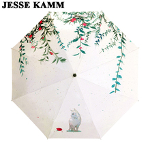 JESSE KAMM Umbrellas For Mother Ladies Women Compact Beauty Fashion Strong Print Brand High Quality Best Choice Popular In China