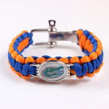 Screw Adjustable Paracord Bracelet Florida Gators NCAA College Charm Bracelet Outdoor Camping Survival Bracelet