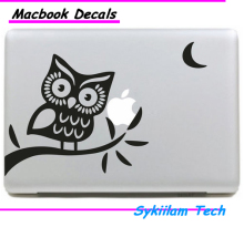 Owl in Night Cartoon Sticker for apple Macbook Skin Air 11 13 Pro 13 15 17 Retina Decal Laptop Wall Car Logo Vinyl Case