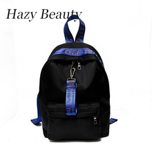 Hazy beauty New nylon women fashion backpack super chic lady shoulder bags off series stylish girls school bags hot sell DH764