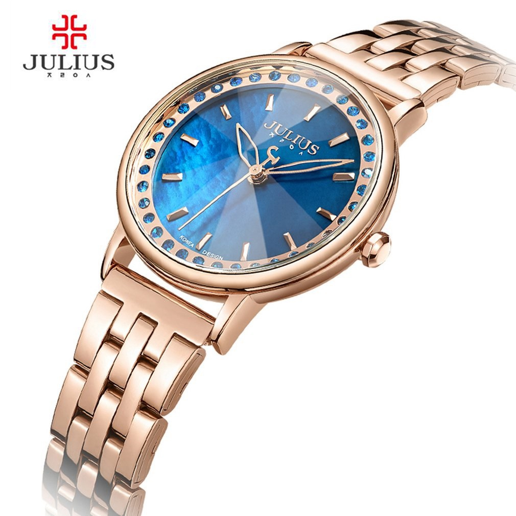 JULIUS 2018 New Spring Waterproof Quartz Watch Women Fashion Casual Clock Shell Dial Whatch Steel Montre Femme JA-959<br>