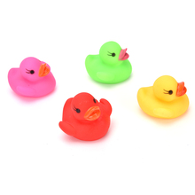 Classic Rubber Duck Plastic Bathroom Swimming Toys Animals Colorful Soft Rubber Float Squeeze Sound Squeaky Bath Toys Gifts(China)