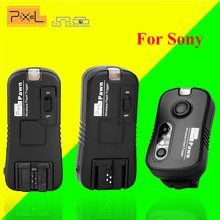 Pixel TF-363 Wireless Flash Trigger 1x Transmitter +2x Receivers for Sony a57 a55 a35 a33 a65 a100 a200 a900 a850 a700 a560 a550(China)