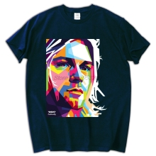 kurt cobain Pure cotton Round collar Men's cotton T-shirt European and American music, rock and roll