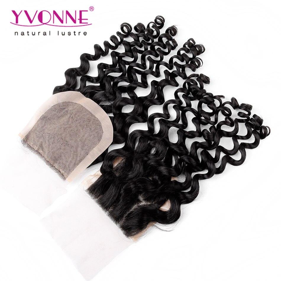 Brazilian Silk Base Closure,100% Italian Curly Virgin Human Hair Closure 4x4,10-18 Inches Aliexpress Yvonne Hair Products<br><br>Aliexpress