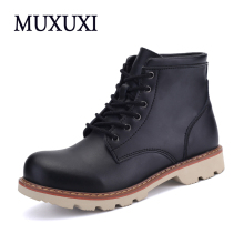 2017 Spring Autumn Genuine Leather Men Work boots  Mens Fashion Model  Causal outdoor boots  Men Martin Boots