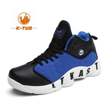 K-TUO High Top Basketball Shoes Men Boots Breathable Non Slip Shoes Men Sports Air Basketball Outdoor Sneakers KT-2019