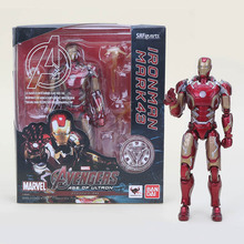 16cmThe Avengers Hot Toys Film Animiation Anime Figurines Iron Man MK 43 SHFigarts Action Figure Doll Toys