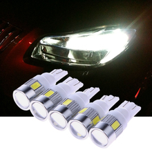 5Pcs/Lot LED Car Clearance Indicator Lights 12V 3W T10 5630 6SMD Car Parking Lights Auto License Plate Light 1 Din car styling(China)