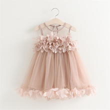Sweety Princess Girls Dresses 2017 Flower Dress Baby Kids Girls Clothing Wedding Party Dresses Babies Clothing Vestidos Bebes