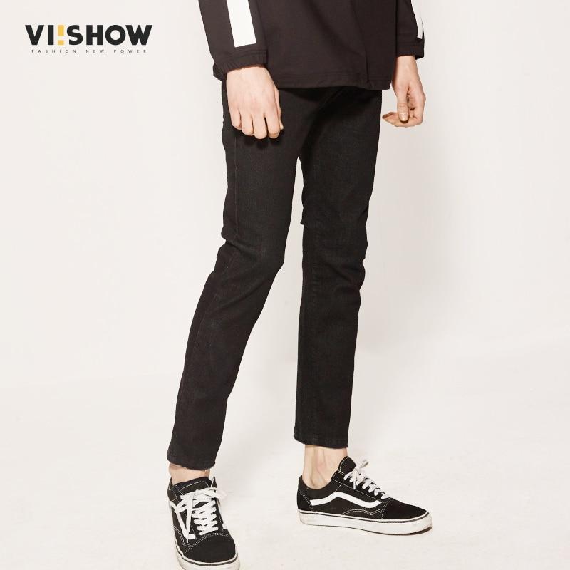 VIISHOW Jeans Men Famous Brand Black Denim Pants Men Cotton Jeans Brand Clothing Men Casual Slim Fit Trouser NC1160171Îäåæäà è àêñåññóàðû<br><br>