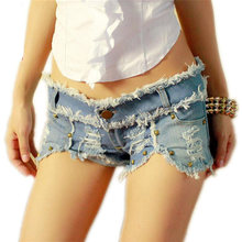 Women Denim Short Pants Sexy Lady Comfortable Night Club Party Slim Body Hole Decoration Jean Pant
