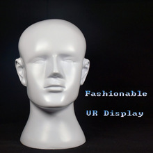 Free Shipping!! Hot Sale Fiberglass Men Head Mannequin Fashion Male Manikin Head On Display