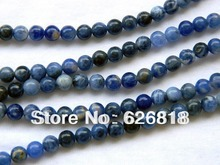 Free shipping charms bulk beads (3 strands/lot) natural 6mm sodalite craft beads(China)