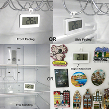Wireless LCD Digital Refrigerator Freezer Indoor Room Thermometer with Magnet Hook Tool CLH@8(China)