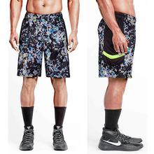 New Summer Bodybuilding Fitness Printed Basketballs Short Male Loose Runs Men Shorts Quick Dry Plus Size Causal Sports Shorts(China)