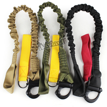Free shipping,Quick Release Tactical Protective Sling Lanyard Safety Line Climbing Rope outdoor tactical gear 3 colors